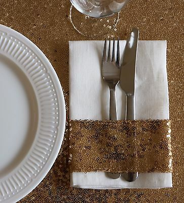 Sparkly Gold Sequin Napkin Holder