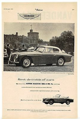 Aston Martin DB2-4 MkII advertisement, 1955