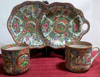 Antique Chinese Hand Painted Famille Rose Porcelain Tea Set-Nr