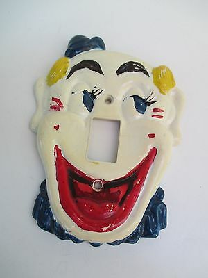 Vintage 1950's Flicko Clown Light Switch Plate Cover Decoration 5017