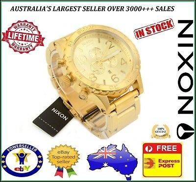 Nixon 51-30 Chrono All Gold Mens Watch A083-502 A083502 Stainless Steel