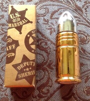 Vintage Avon Wild West Country After Shave Gold Bullet Decanter with Box 1.5oz