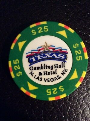Texas Gambling Hall $25 Casino Chip- House Issue- Mint Condition