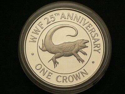 Turks & Caicos 1988, Proof Crown, Sterling Silver 0.925, Rock Iguana #G3555