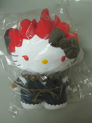 Hello Kitty Street Fighter Akuma plush - NEW SDCC Exclusive Limited to 1000