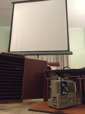 Vintage Eumig P8 Projector, Screen and Accesories
