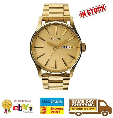 Nixon Sentry SS All Gold Watch A356-502 A356502 Stainless Steel