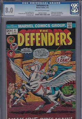 Defenders #4 (1973) CGC 8.0 OW/W 1ST APPEARANCE of Valkyrie and Origin