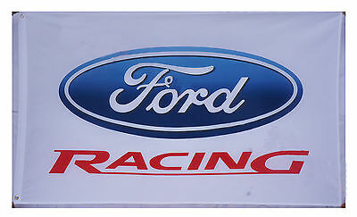New White Ford Racing Flag Ford car Banner 3X5 Flags - free shiping
