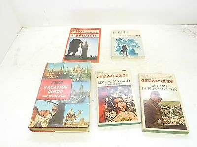 Lot of 5 Vintage TWA Airline Travel and/or Vacation Guides  B39-10