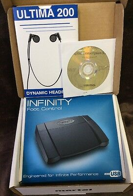 Martel All N' One Digital Transcription Kit with Foot Pedal, Headset & Software