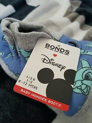 Bonds Disney Bambi Thumper Booties SIZE 6 to 12 month old New with tags