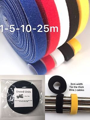 20mm*1m-5m-10m-25m Reusable Cable Tie Strap Wrap Hook Loop Self-Gripping Tape