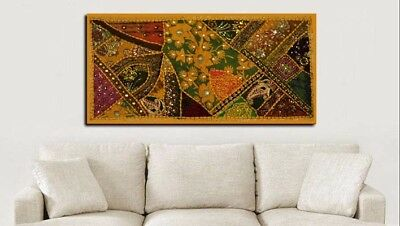 """40"""" Classic Collectible Sari Vintage Décor Wall Hanging Throw Runner Tapestry"""