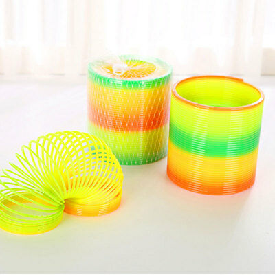Rainbow Coloured Spring Slinky Children Toy Springs Bouncy Toy For Party Gift