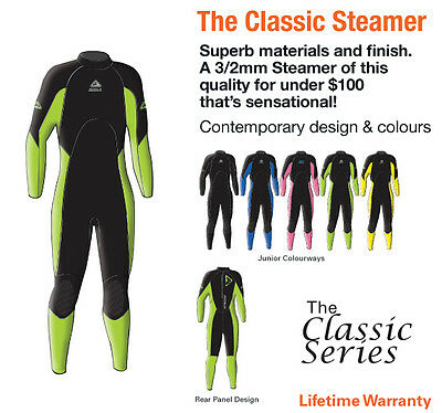 NEW ADRENALIN KIDS WETSUIT 3/2mm STEAMER NEOPRENE WET SUIT - FREE DELIVERY