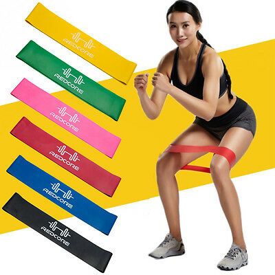 New 6Pcs Fitness Equipment Elastic Exercise Resistance Loop Bands Workout Yoga