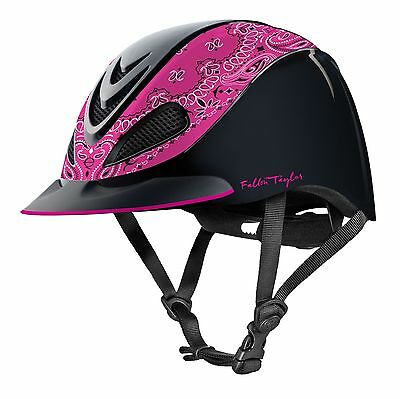 TROXEL–Fallon Taylor Riding Helmet–Pink Band–04-390-Manufacture Date April 2016