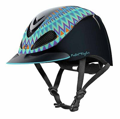 TROXEL–Fallon Taylor Riding Helmet–AztecTurq–04-393-Manufacture Date August 2016