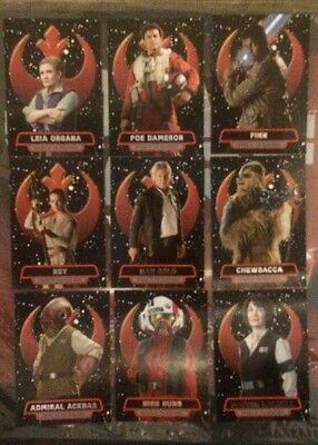 Star Wars Force Awakens Series 2 Heroes Of The Resistance Complete 16 Card Set