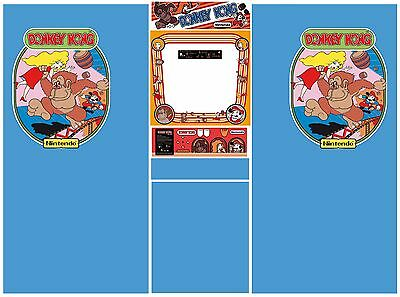 Donkey kong cabinet decals