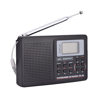 FM/AM/SW/LW/TV Full Band Radio Alarme Horloge Poche Portable Automatique/Manuel