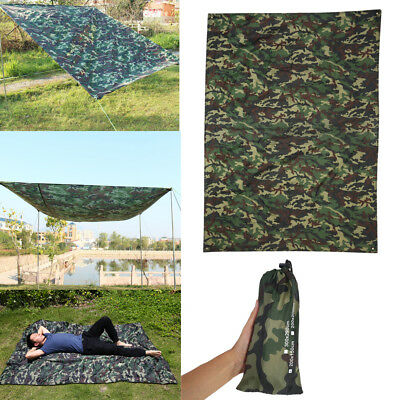 3 Size Lightweight Tent Tarp Camouflage Mat Tent Shelter for Outdoor Camping LS