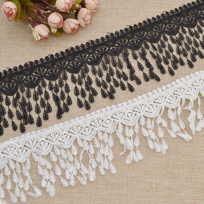 Embroidered Pearl Lace Edge Trim Ribbon Sewing DIY  Applique Vintage Craft Decor
