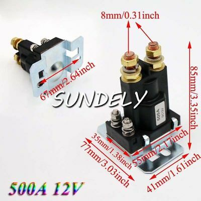UK Dual Battery Isolator Relay Start On/Off 4 Pin 500A 12V For Car Power Switch