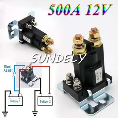 HI-Q 4 Pin Over 500A AMP DC 12V Relay On/Off Car Auto Power Switch Contactor