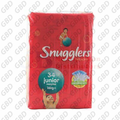 SNUGGLERS JUNIOR NAPPIES 34PK (x1)