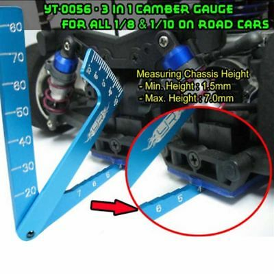 RC 3 in 1 Camber Gauge Set Up Tool chassis Suspension Wheel Camber Ride Height