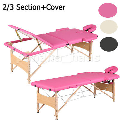 Portable Folding Lightweight Massage Table Beauty Salon Tattoo Therapy Couch Bed
