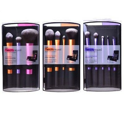 3x Real Techniques Starter Kit Makeup Brushes Core Collection Travel Essentials