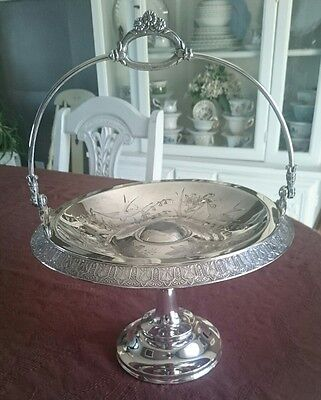 Meridien Quadruple Silver Plated Cake Brides Basket