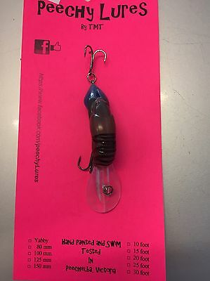 Peechy Lures Yabby 60mm 3 Metre Depth Yellow Belly Cod Red Fin