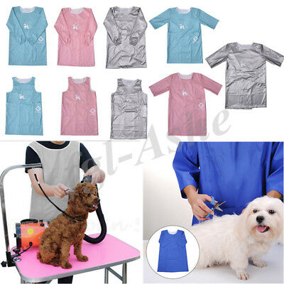 Pet Dog Cat Grooming Gown Waterproof Apron Beauty Cloth With Sleeve /Sleeveless