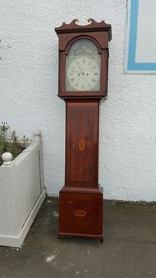 19th Century Mahogany Inlaid Longcase Clock