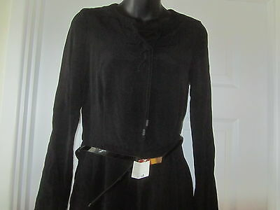 Bnwt Mango Black Bell Sleeve Shoe Lace Neck Playsuit Size S