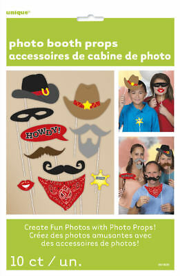 10 Western Photo Booth Props - Birthday Decoration Picture Picture