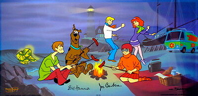 Hanna Barbera Signed Cel A Clue For Scooby Doo Rare Animation Art Edition Cell