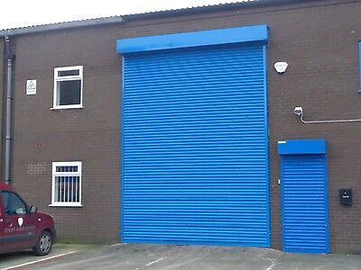electrically operated Autoroll Security roller shutter door 2800mm x 2800mm