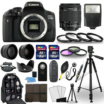Canon EOS 750D Digital SLR Camera + 18-55mm STM Lens + 30 Piece Accessory Bundle