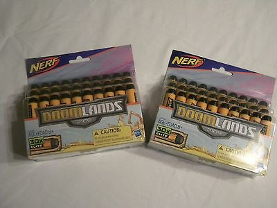 2 PACKS NERF Doomlands Genuine 30 Count Pack Elite Darts AMMO BRAND NEW .