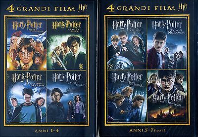 HARRY Potter 4 Grandi Film DVD ( Anni 1-4 ) Collection (5-7) - DVD NUOVO