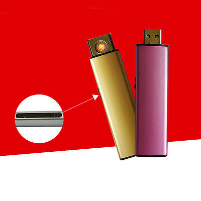 Fashion Portable Mini Windproof Lighter Electric Rechargeable USB Flameless New