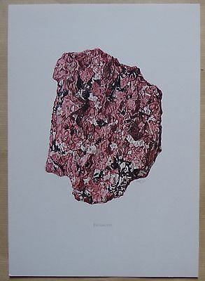 M132 - planche MINERAL MINERAUX : eudialyte
