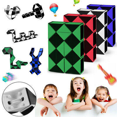 Snake Rubiks Cube Rubix Rubic Magic 3D Game Puzzle Mind Toy Party Child Gift UK