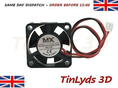 12v dc Brushless Extruder Fan 4010 c/w 1 metre cable ANET A8 3D PRINTER PART