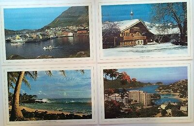 *Vintage Placemats Collectible Laminated Hawaii Norway Austria Mexico Set/4